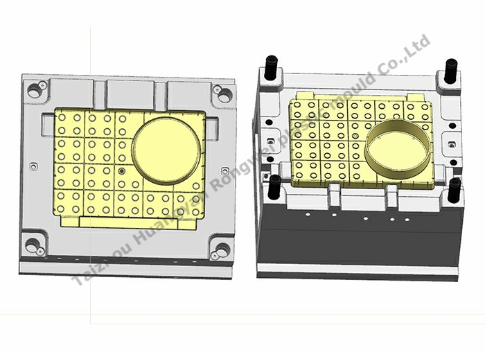 Dressing table back cavity mould