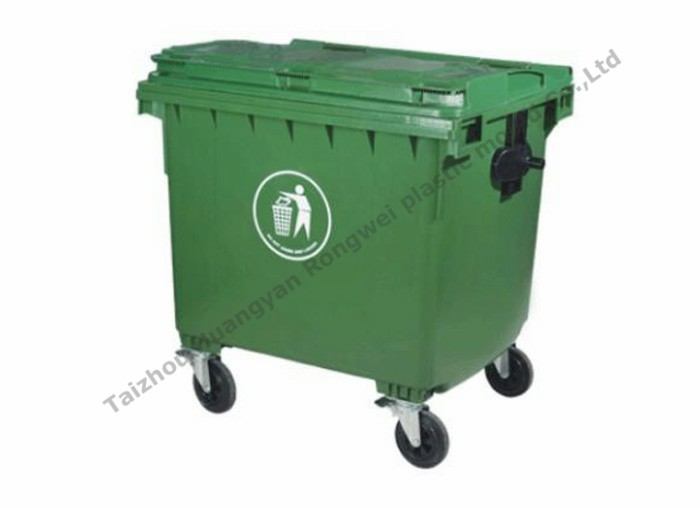 1100L trash can cavity mould